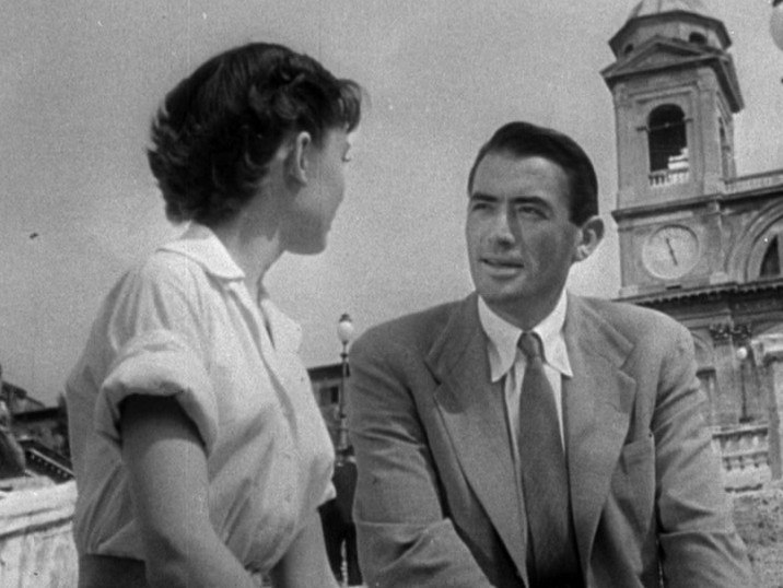 Audrey Hepburn and Gregory Peck in Roman Holiday trailer