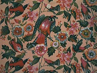 The Birds of America - Furnishing fabric, from Lancashire, 1830s