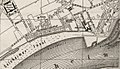 Ausschnitt Karte Düsseldorf am Rheinufer vom Sicherheitshafen bis Golzheimer Insel, 1888.jpg