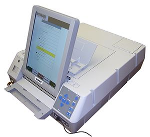 Election Systems & Software - An AutoMARK ballot marking device.