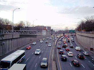Côte-des-Neiges–Notre-Dame-de-Grâce - The Décarie Expressway, which cuts through the borough, opened in 1966.