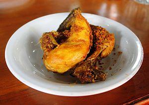 Ayam goreng - Image: Ayam bumbu Aie Badarun