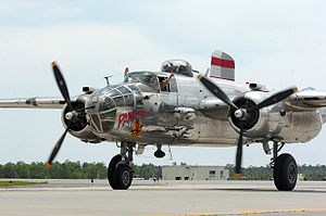 "41st Tactical Group - Rag Wings and Radials' B-25J is restored as ""Panchito."" It served with the 396th Bomb Squadron, 41st Bomb Group, 7th Air Force, stationed in the Central Pacific."