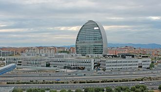 Banco Bilbao Vizcaya Argentaria - BBVA City, main and operations headquarters of the bank in Madrid, Spain.