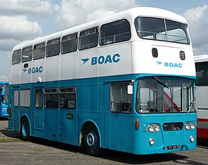 Speedbird - The speedbird on a BOAC bus