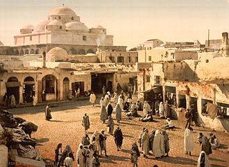 Sidi Mahrez - Mosque and Mausoleum of Sidi Mahrez in 1899