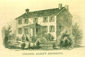 François Baby House - François Bâby House, depicted in 1812