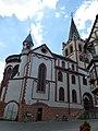 Bacharach – die evangelische Kirche St. Peter wurde um 1100 bis 1400 erbaut und ist Teil des UNESCO-Welterbes Oberes Mittelrheintal - panoramio.jpg