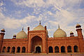 Badshahi Mosque front view outer side of main hall.JPG
