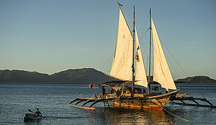 A reconstructed sail-driven Visayan paraw, a type of bangka Balatik, a paraw from the Tao Expedition, Philippines.jpg