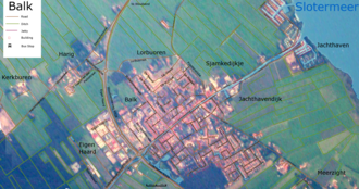Balk, Netherlands - Detailed map of Balk