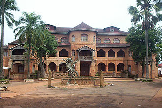 West Region (Cameroon) - Ibrahim Njoya ordered the construction of the Bamum sultan's palace at Foumban.