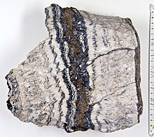 A striped rock