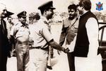 Bangabandhu Sheikh Mujibur Rahman with Bangladesh Air Force personnel (06).png