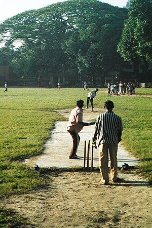 Cricket in Bangladesh - Image: Bangladeshis playing cricket