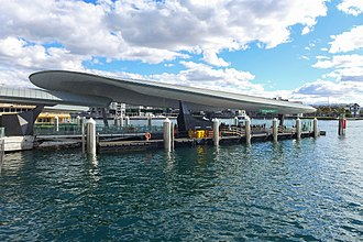 Barangaroo ferry wharf - View of the wharf in August 2017