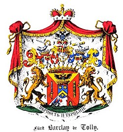 Coat of arms of the Barclay de Tollys