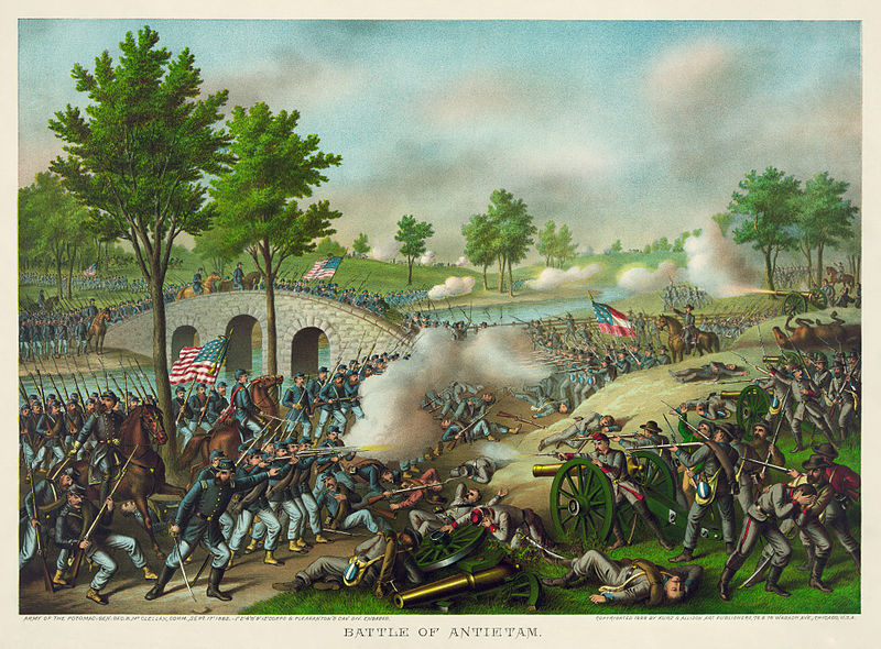 Battle of Antietam painting
