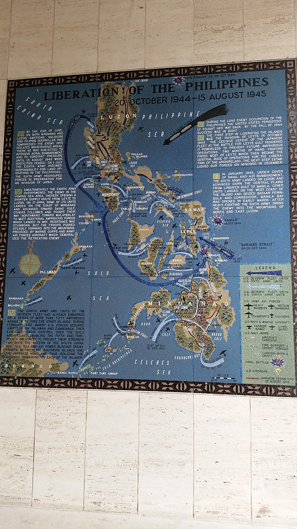 Battle of Mindanao map at the Manila American Cemetery and Memorial Battle of Mindoro map at the Manila American Cemetery and Memorial.jpg