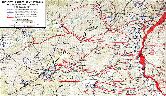 Hasso von Manteuffel led Fifth Panzer Army in the middle attack route. Battle of the Bulge 5th.jpg