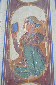 Bedi Mahal-Lady with Mirror.JPG