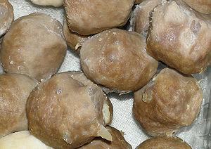 Beef ball - Image: Beefball closeup