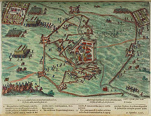 Siege of Groenlo (1597) - Image: Belegering van Grol in 1597 Siege of Groenlo in 1597