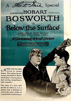 Below the Surface (1920 film) - Ad for film