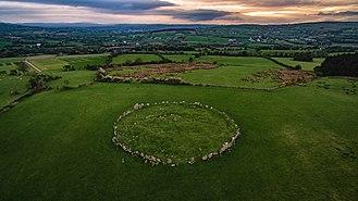 Beltany stone circle - Beltony stone circle at sunset