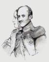 Alexander von Benckendorff abikaasaga. Elizabeth Rigby 1840. aasta joonistus
