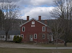 Bennett's 1815 House, located at the junction of Vermont Routes 44 and 106, southeast of the town center