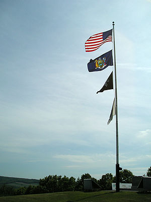 Bennington Battlefield State Historic Site - Image: Bennington Battlefield State Historic Site Flags 30May 2008