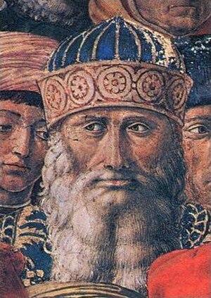 Gemistus Pletho - Portrait of Gemistus Pletho, detail of a fresco by acquaintance Benozzo Gozzoli, Palazzo Medici Riccardi, Florence, Italy