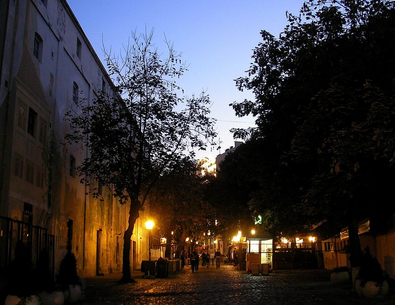 Px Beograd Skadarlija Street In Evening C