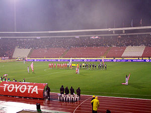 Eternal Derby (Serbia) - Teams lining up in November 2009