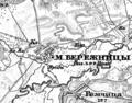 Berezhnytsia, 1866—1887, map.png
