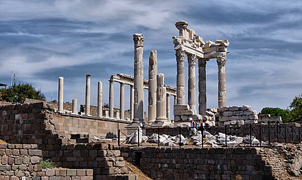 The ruins of the ancient city of Pergamon