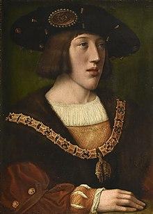 Karl V. um 1520 (Gemälde nach Bernaerd van Orley) (Quelle: Wikimedia)