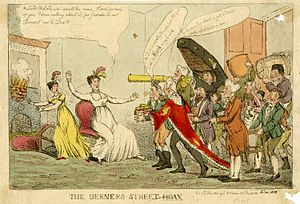 Berners Street hoax -  Berners Street hoax, caricature