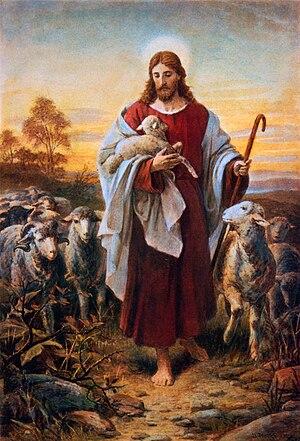 Bernhard Plockhorst - The Good Shepherd