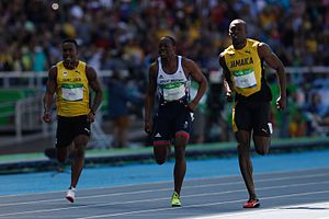 Athletics at the 2016 Summer Olympics – Men's 100 metres - Heat 7 finish