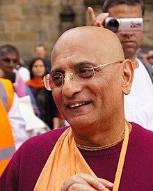 Bhakti Charu Swami a Santiago de Compostelában. JPG