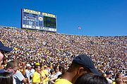 The Stadium Filled For A Football Game