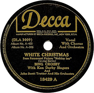 "Holiday Inn (film) - ""White Christmas"" (Decca Records 1942)"