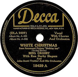 "Holiday Inn (film) - ""White Christmas"" (Decca Records 1942)"