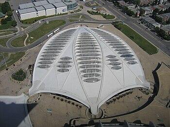 El Biodôme visto desde la torre del Estadio Olímpico