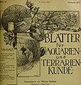 Blätter für Aquarien- und Terrarien-Kunde (1905) (20201064339).jpg