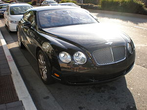 A Bentley Continental GT in Daly City, California.
