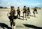 Black Hawk Down Rangers return to base after mission