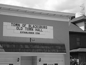 Blacksburg, Virginia - Blacksburg's old town hall